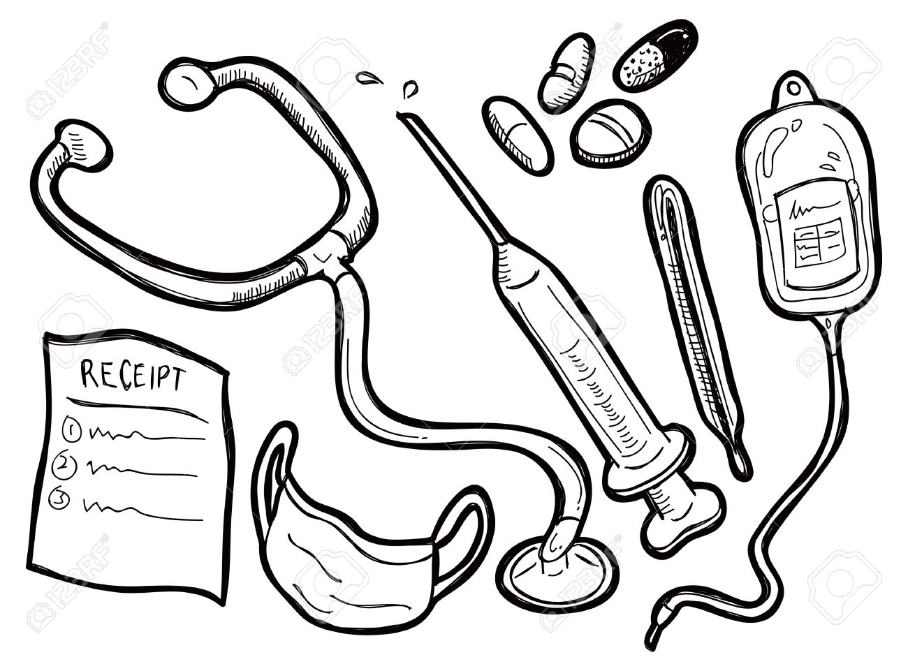 Doctor Tools Drawing At Getdrawings