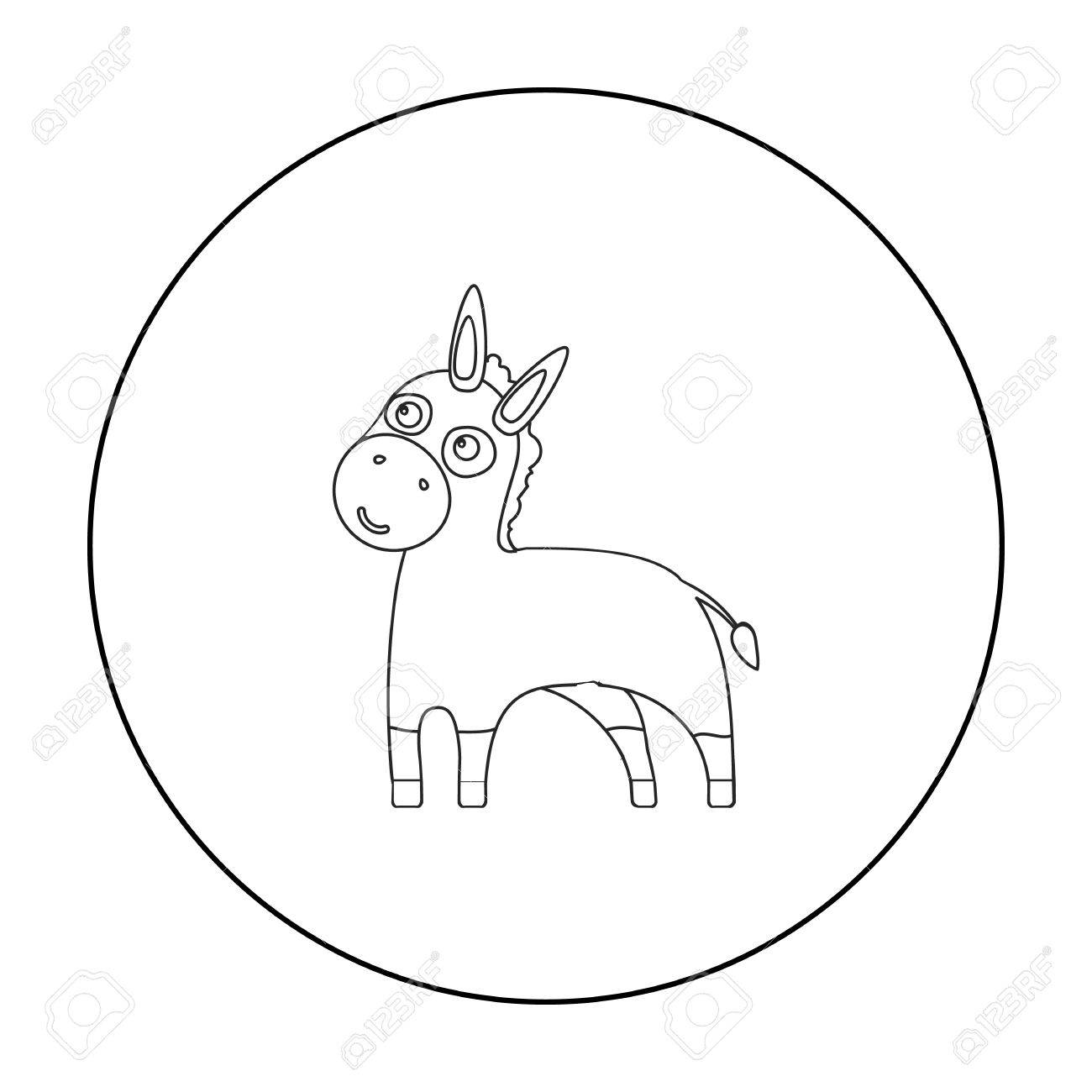Donkey Drawing Outline At Getdrawings