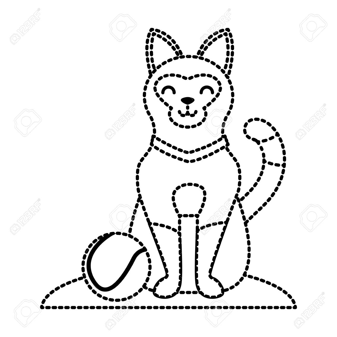 Dotted Line Drawing At Getdrawings