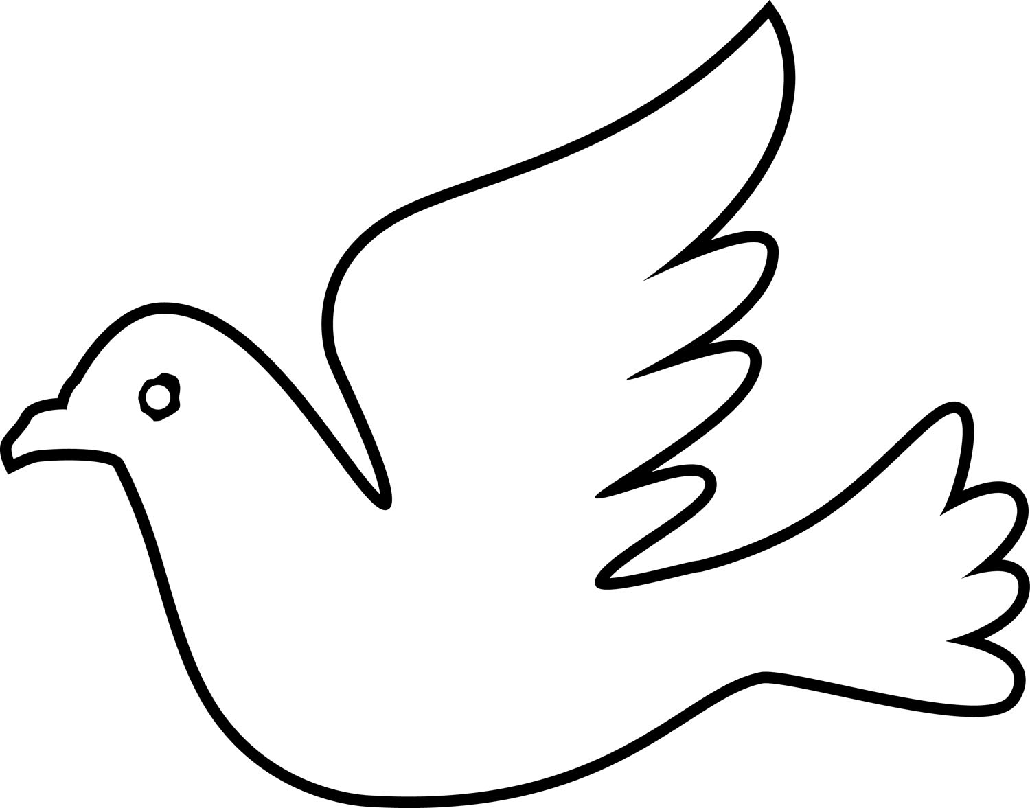 Dove Drawing Outline At Free For