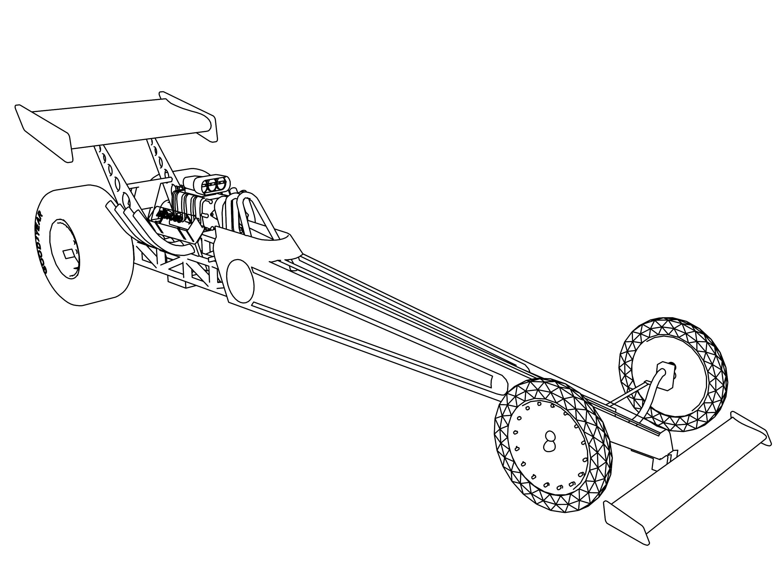 Drag Car Drawing At Getdrawings