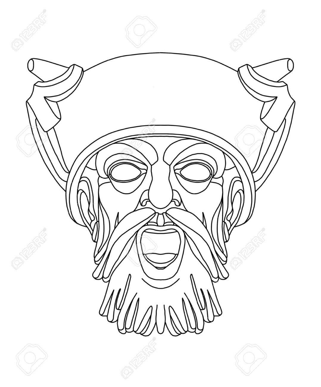 Drama Mask Drawing At Getdrawings