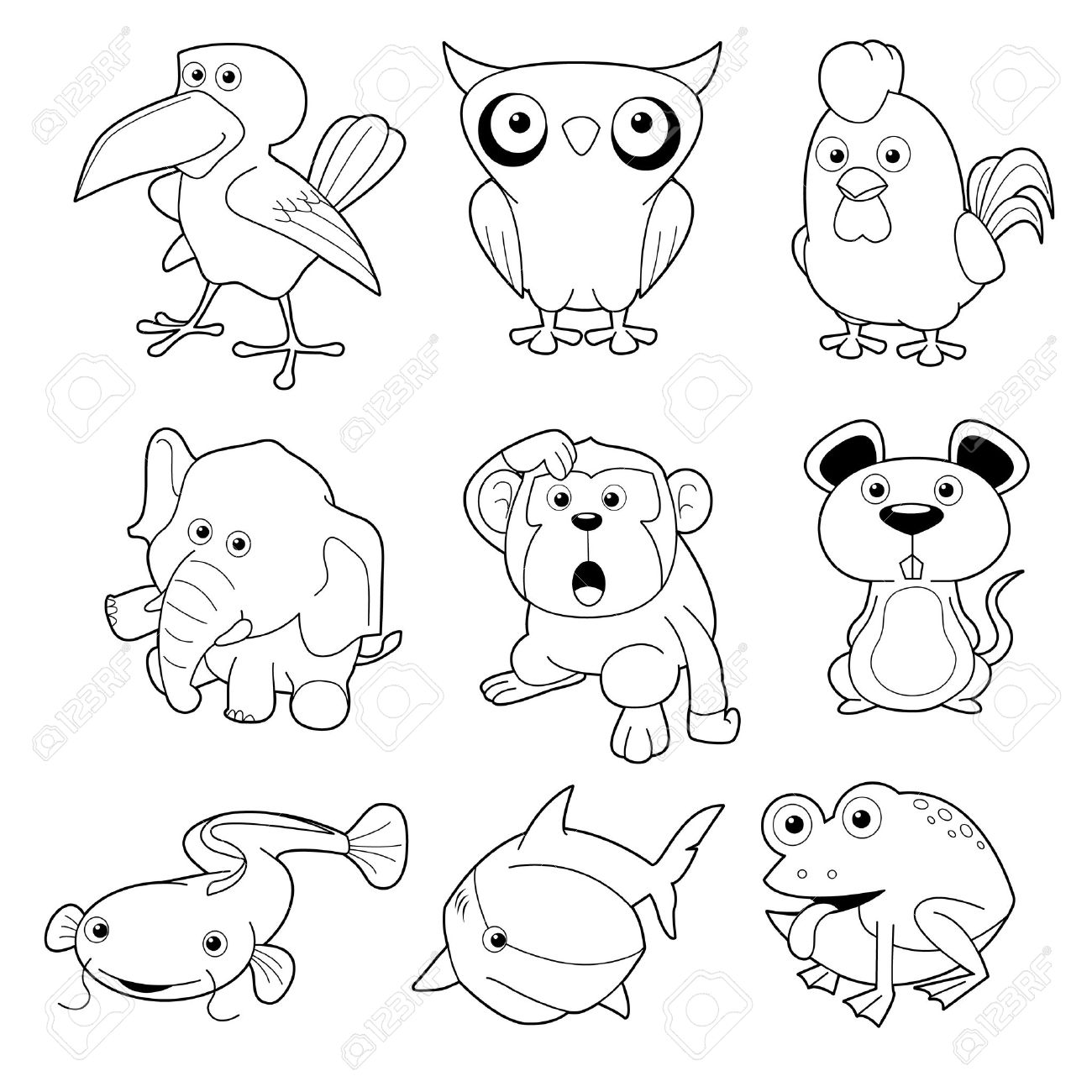 Drawing Outlines Of Animals At Getdrawings