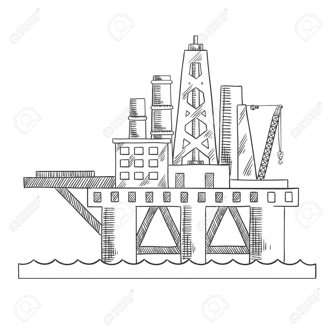 Drilling Rig Drawing At Getdrawings