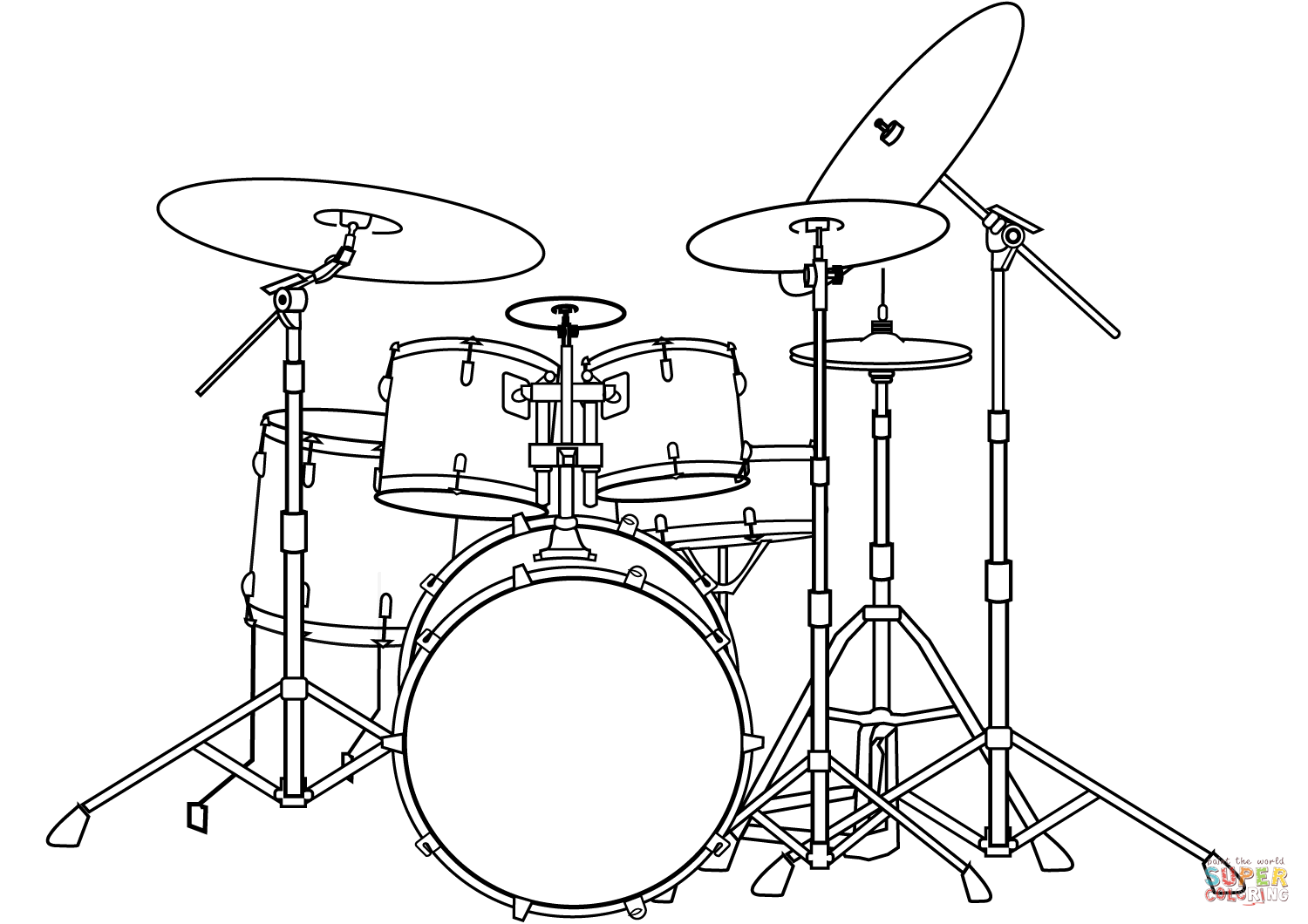Drums Coloring Pages