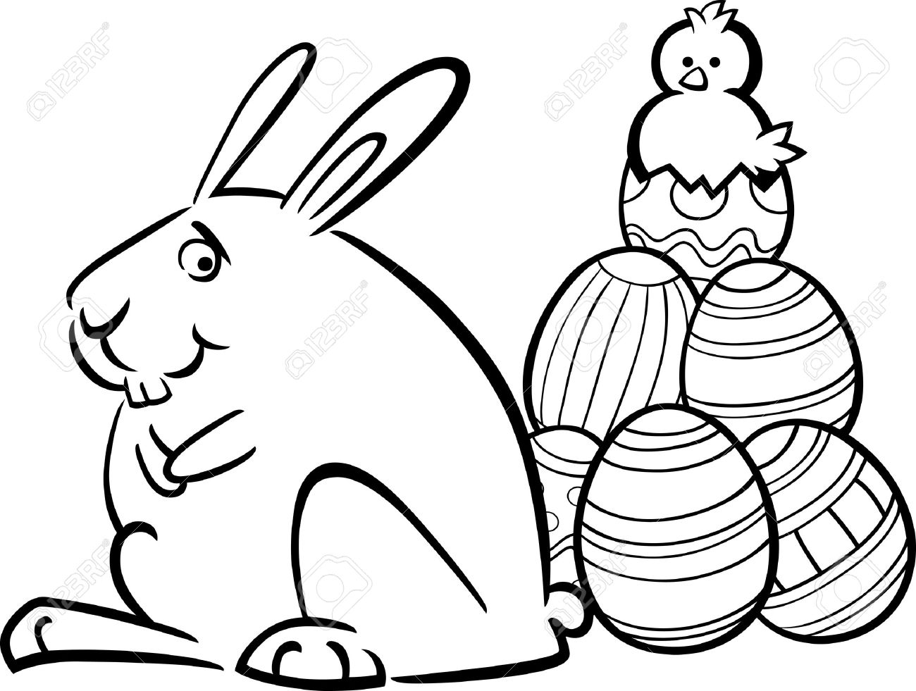 Easter Bunny Silhouette At Getdrawings