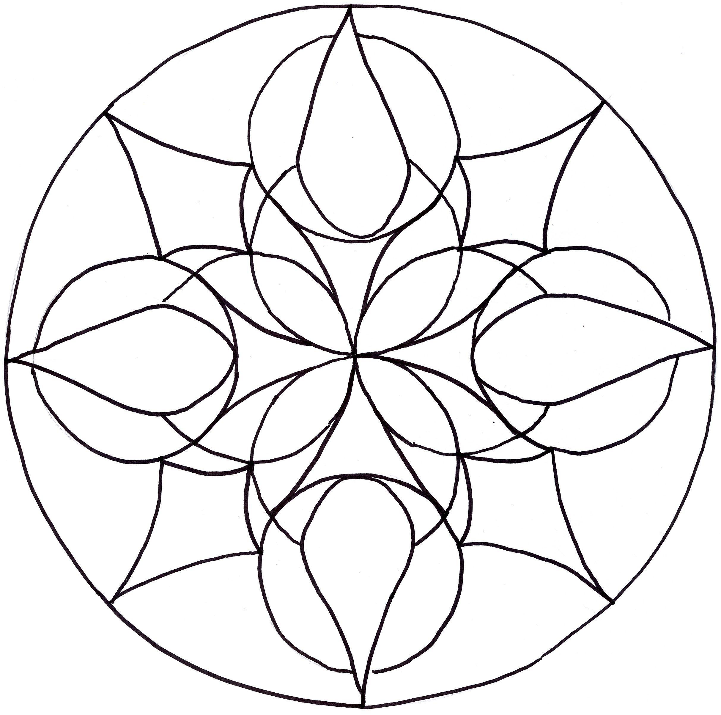 Easy Mandala Drawing At Getdrawings