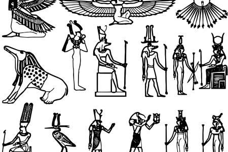 Egyptian Painting Egyptian Symbols Egyptian Gods Electronic