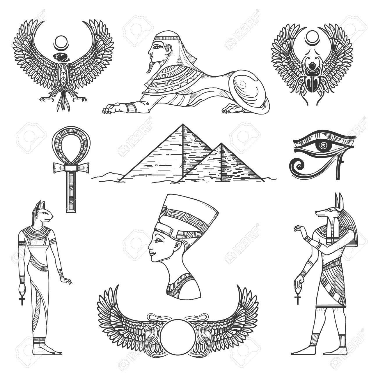 Egyptian Pyramids Drawing At Getdrawings