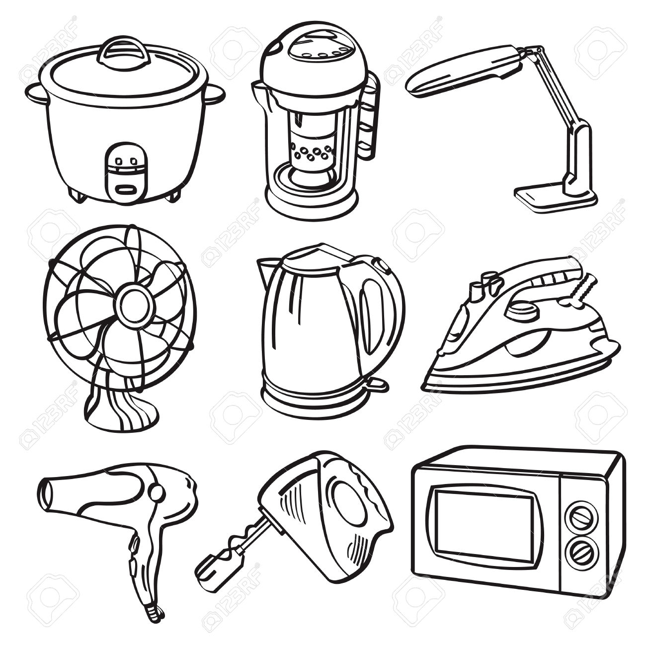 1300x1300 electric fan clipart black and white collection