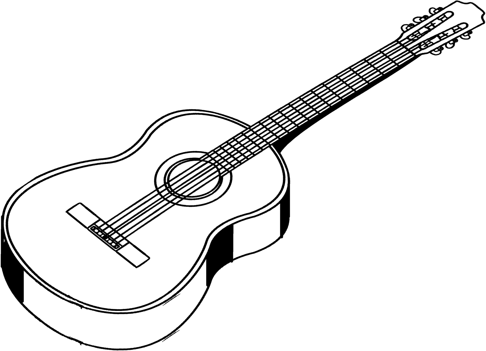 Electric Guitar Line Drawing At Getdrawings