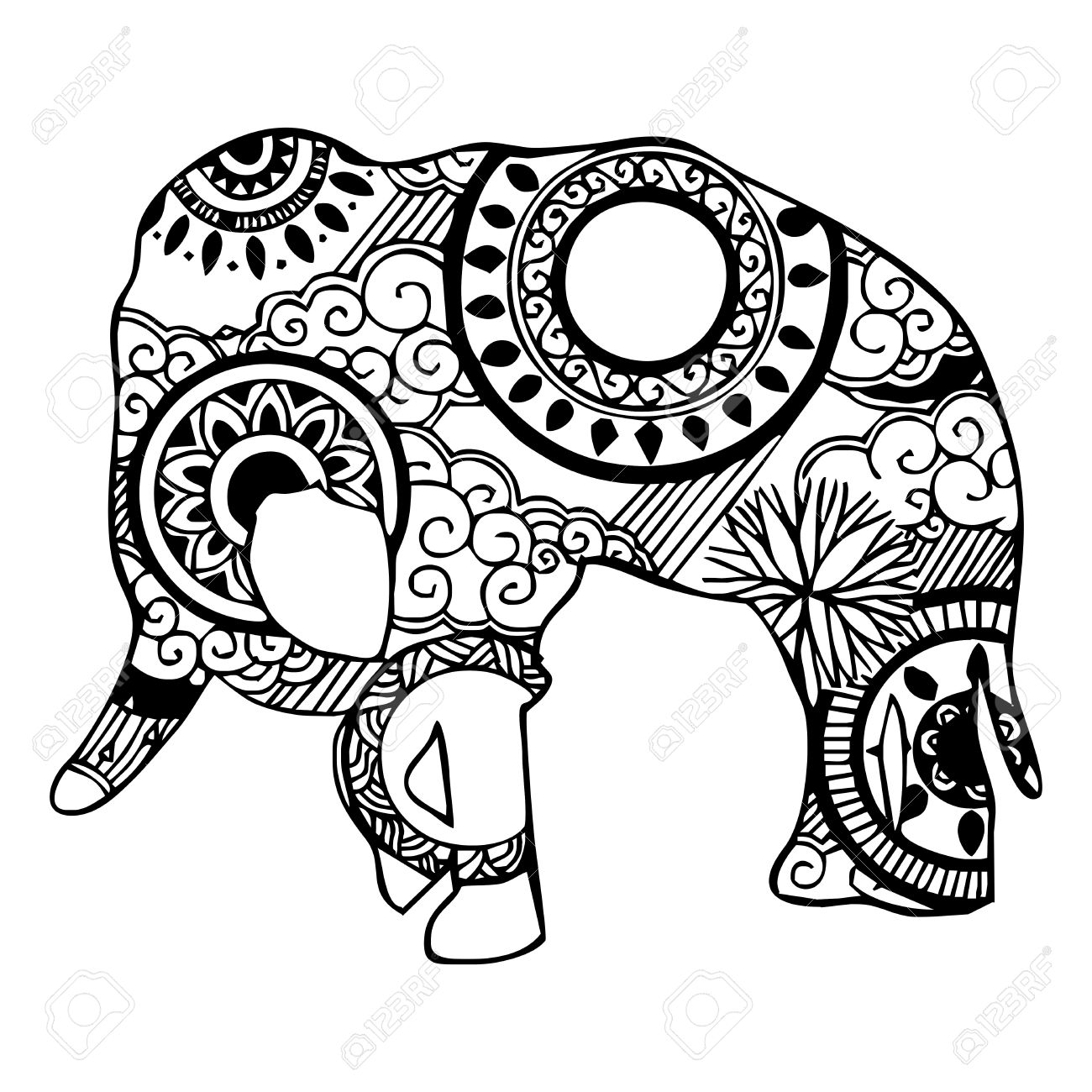 Elephant Tribal Drawing At Getdrawings
