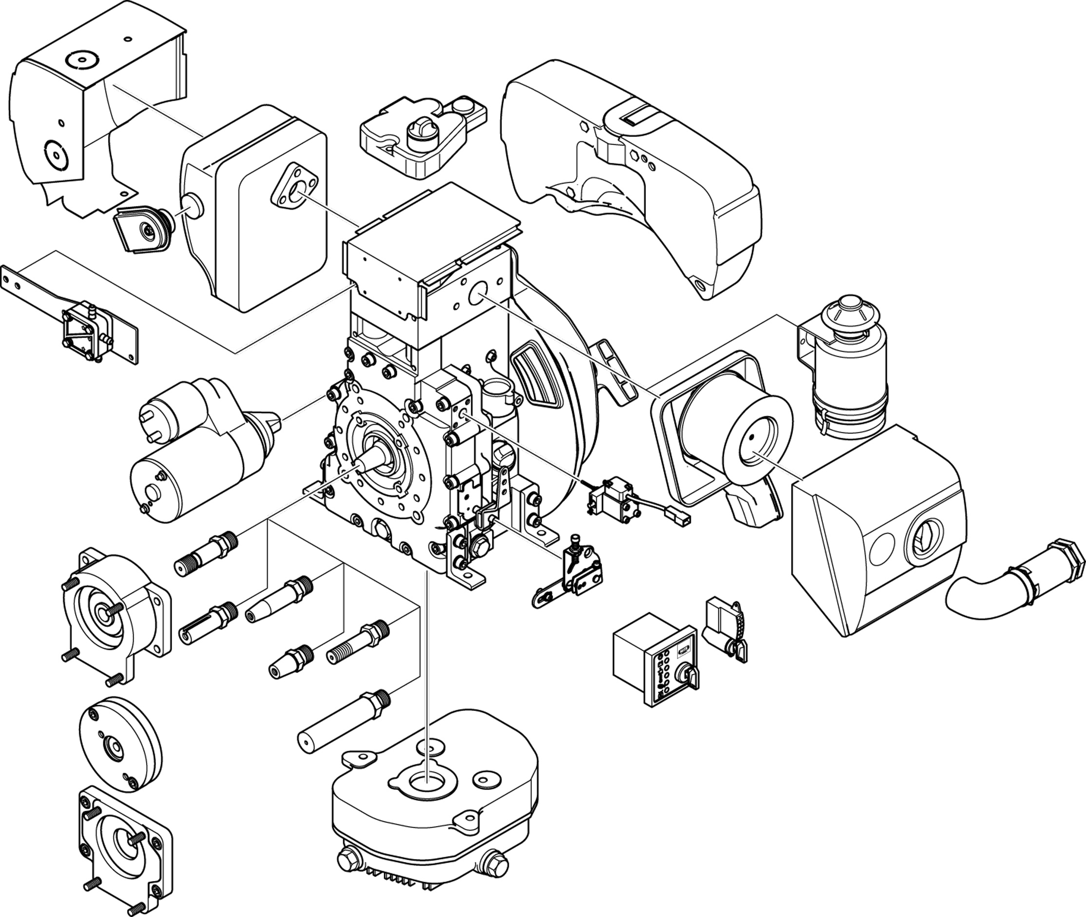 Engine parts drawing