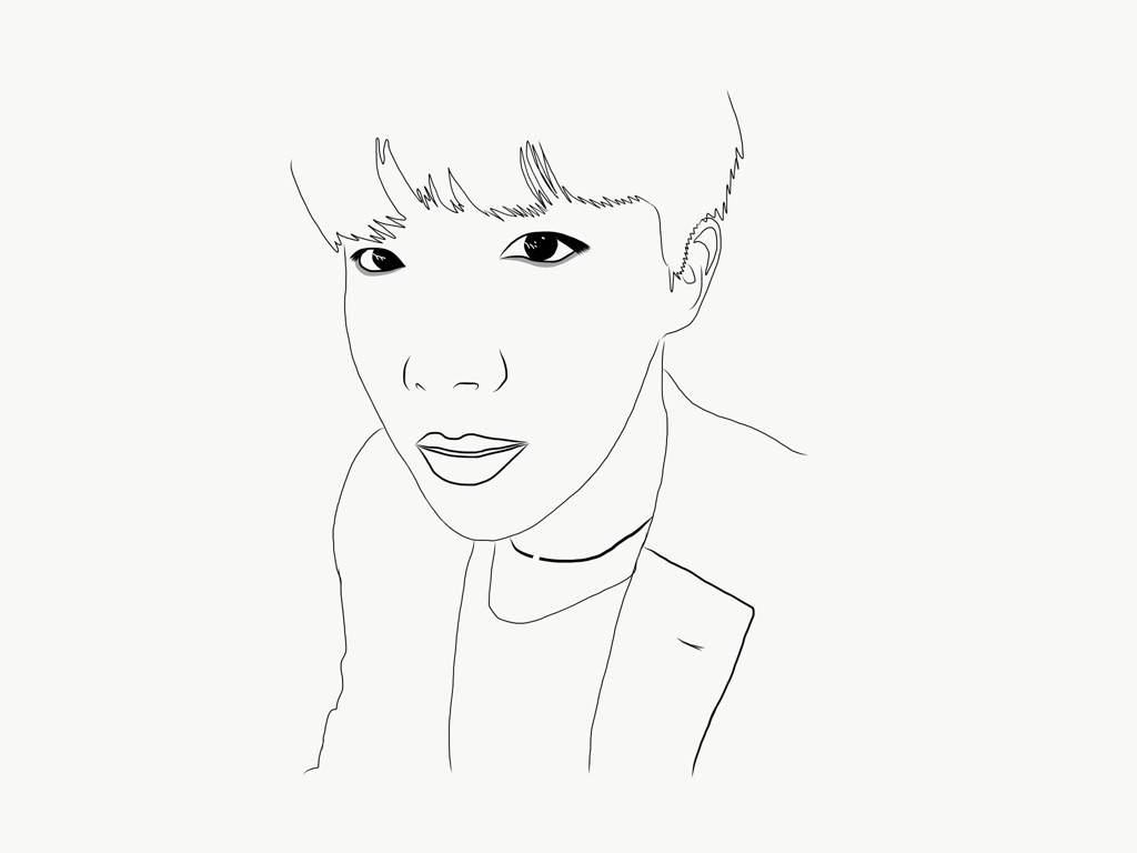 J Hope Bts Drawing