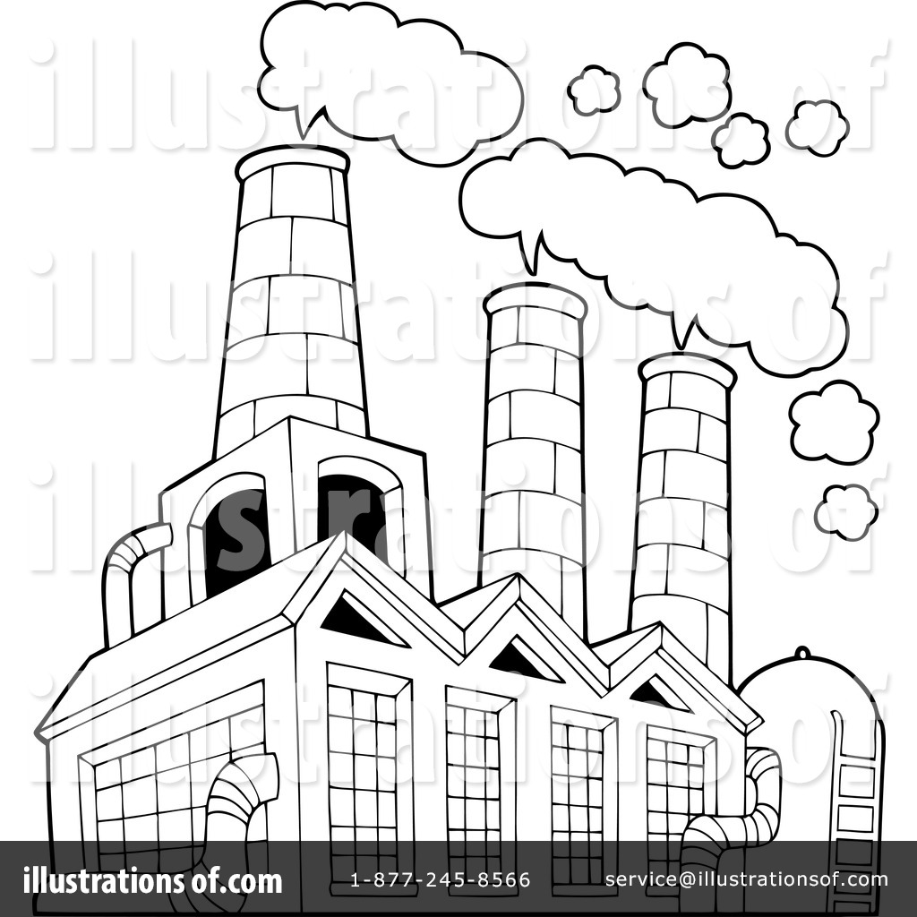 Factory Building Drawing At Getdrawings