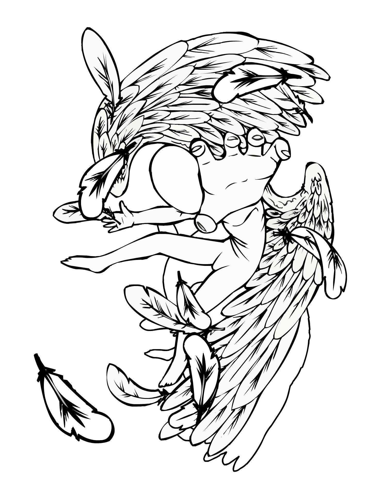 Falling Angel Drawing At Getdrawings