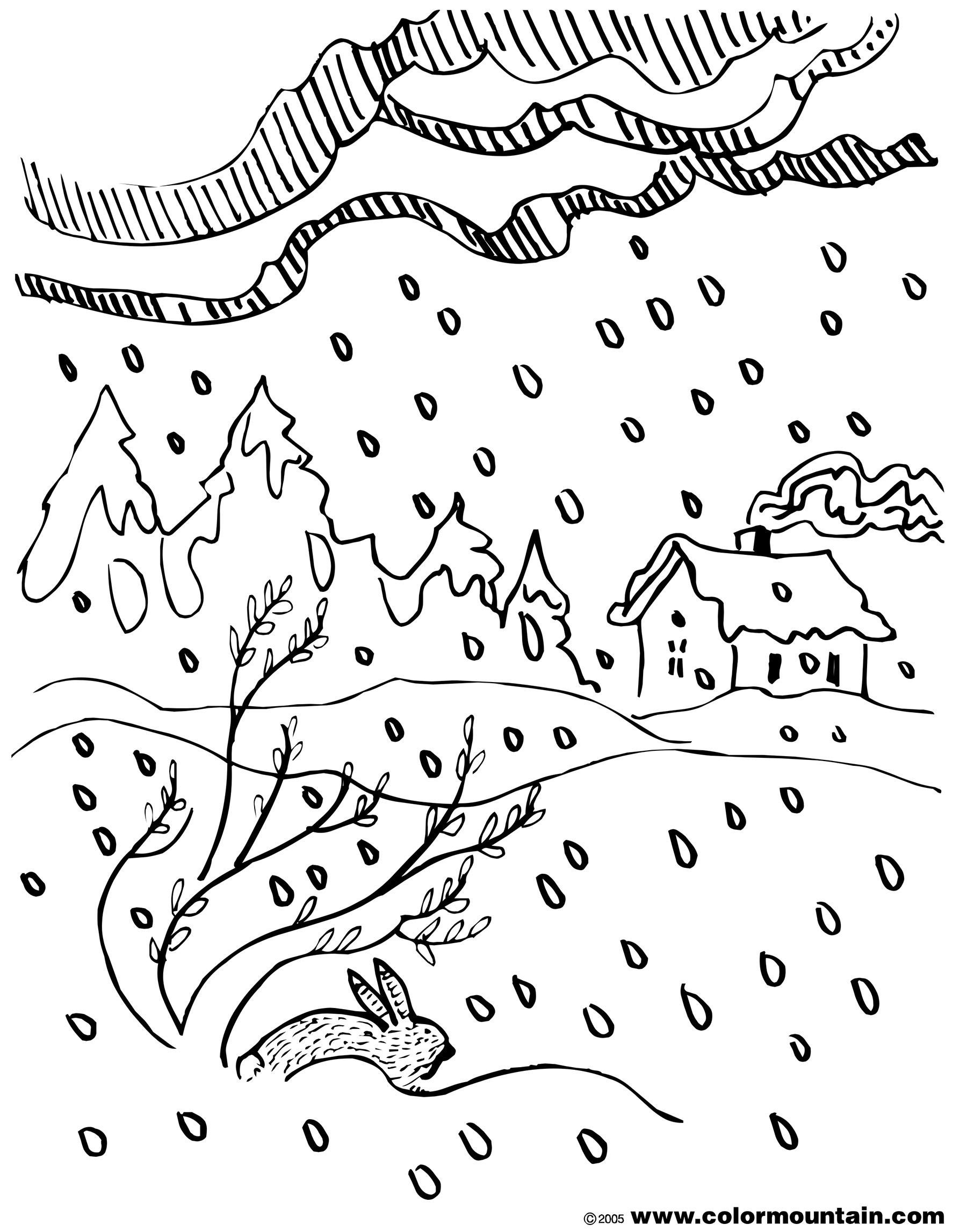 Falling Snow Drawing At Getdrawings
