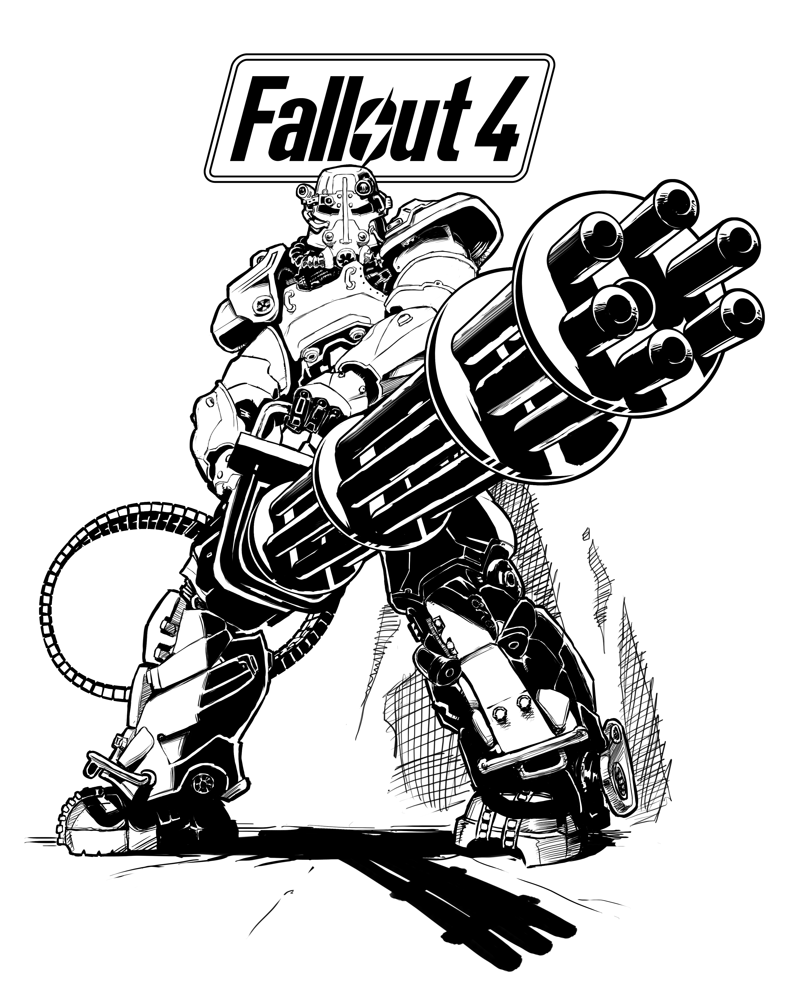 Fallout Power Armor Drawing At Getdrawings