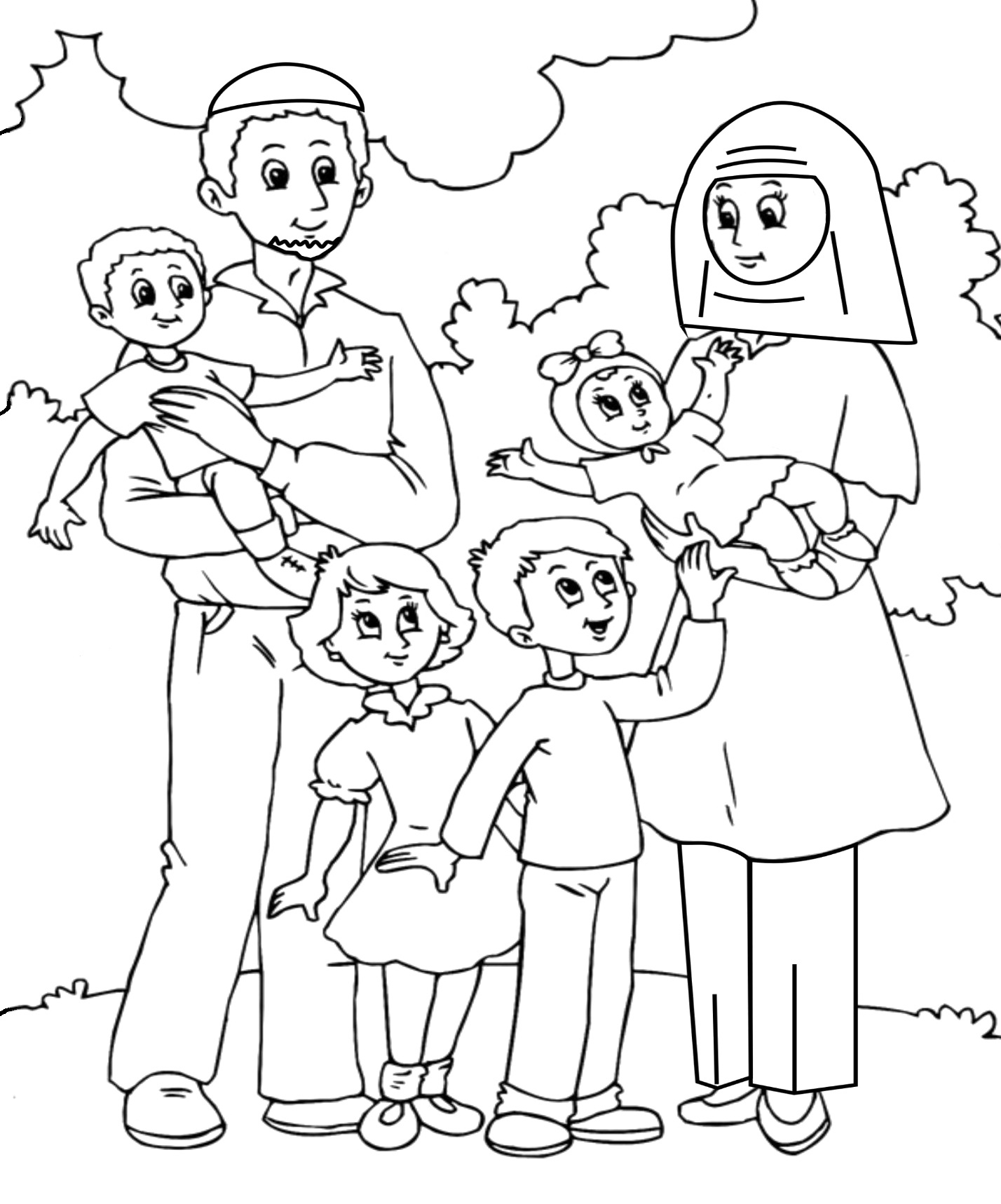 Family Picture Drawing At Getdrawings