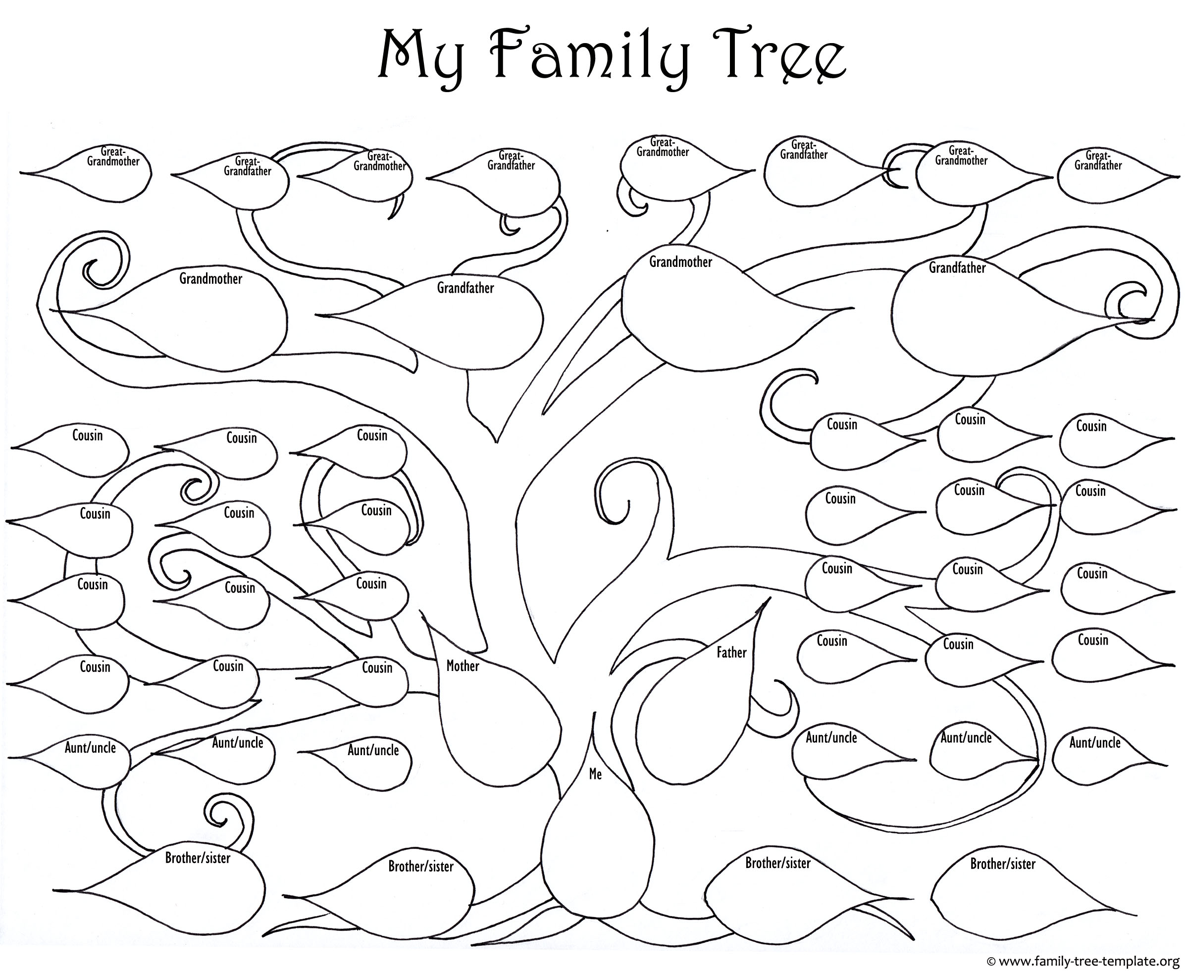 Family Tree Drawing Easy At Getdrawings