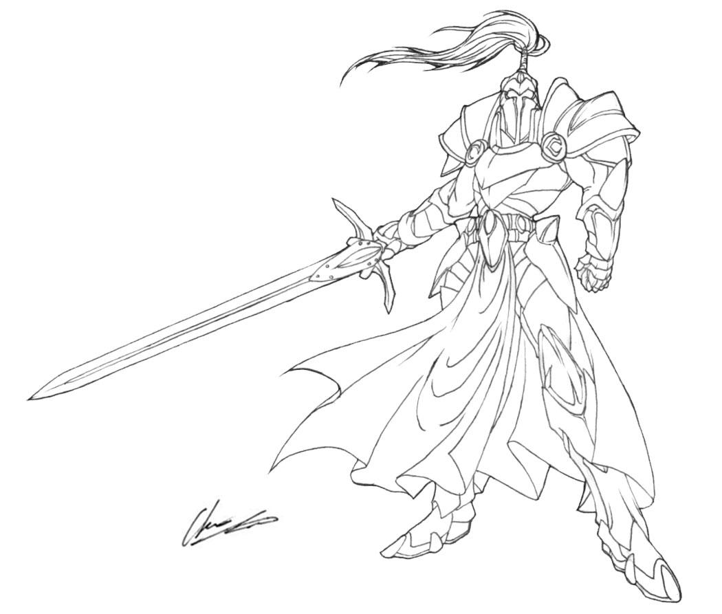 Fantasy Knight Drawing At Getdrawings