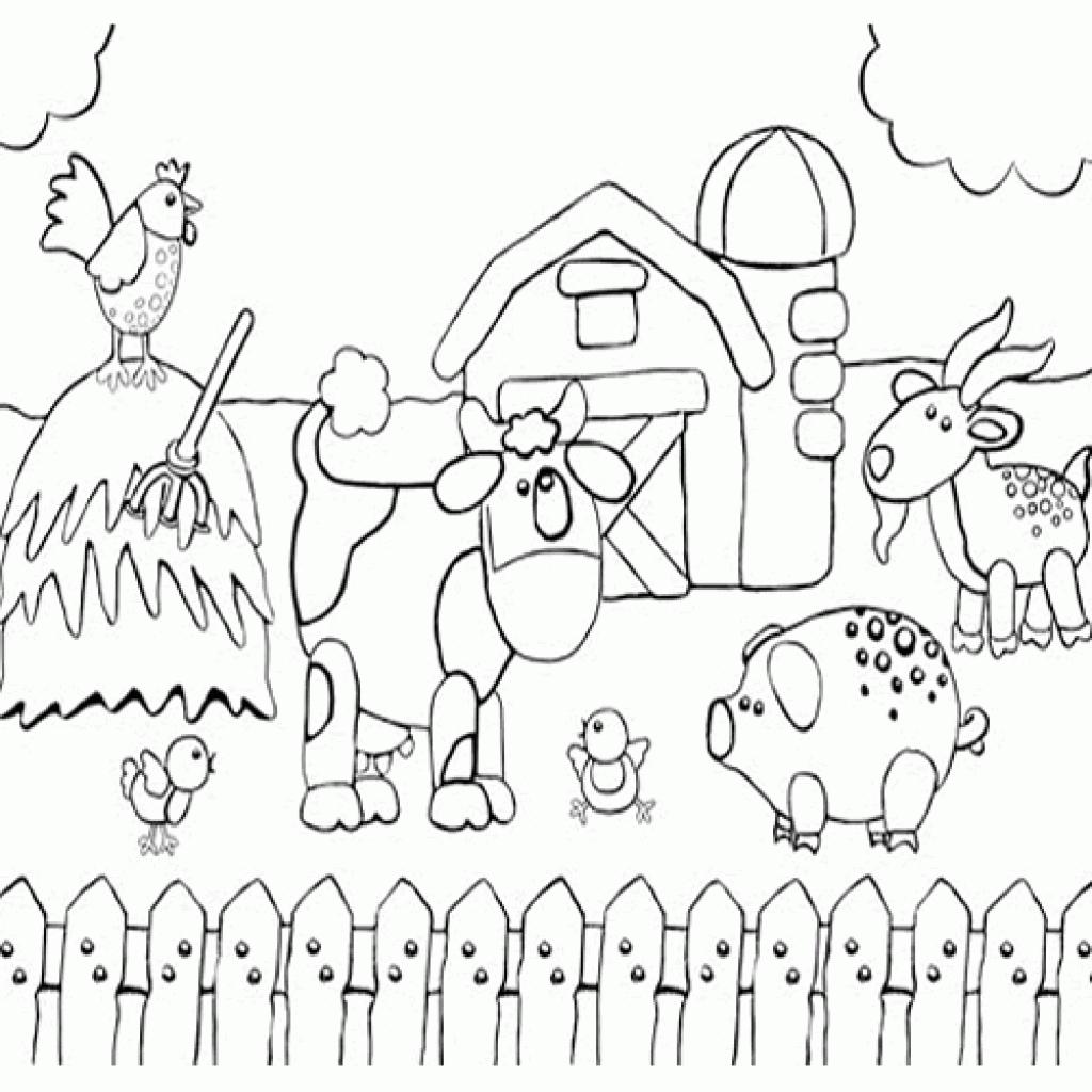 Farm Scenes Drawing At Getdrawings