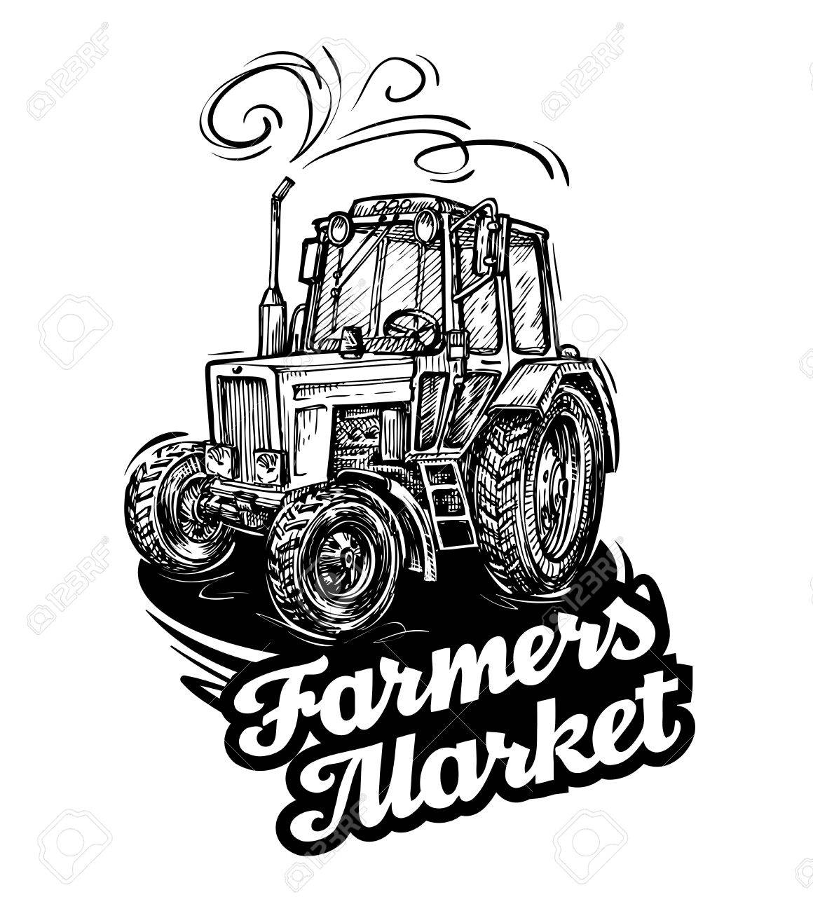 Farm Tractor Drawing At Getdrawings