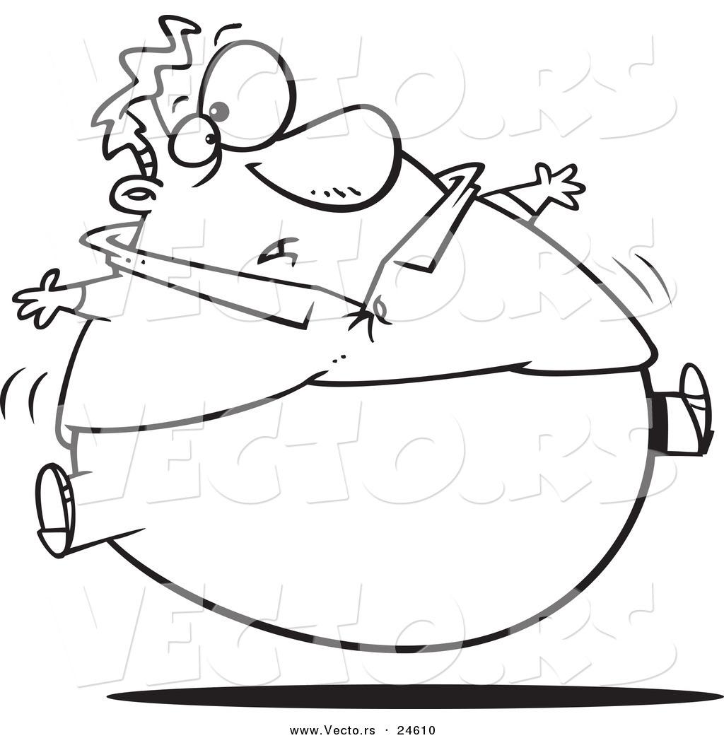 Fat Man Drawing At Getdrawings