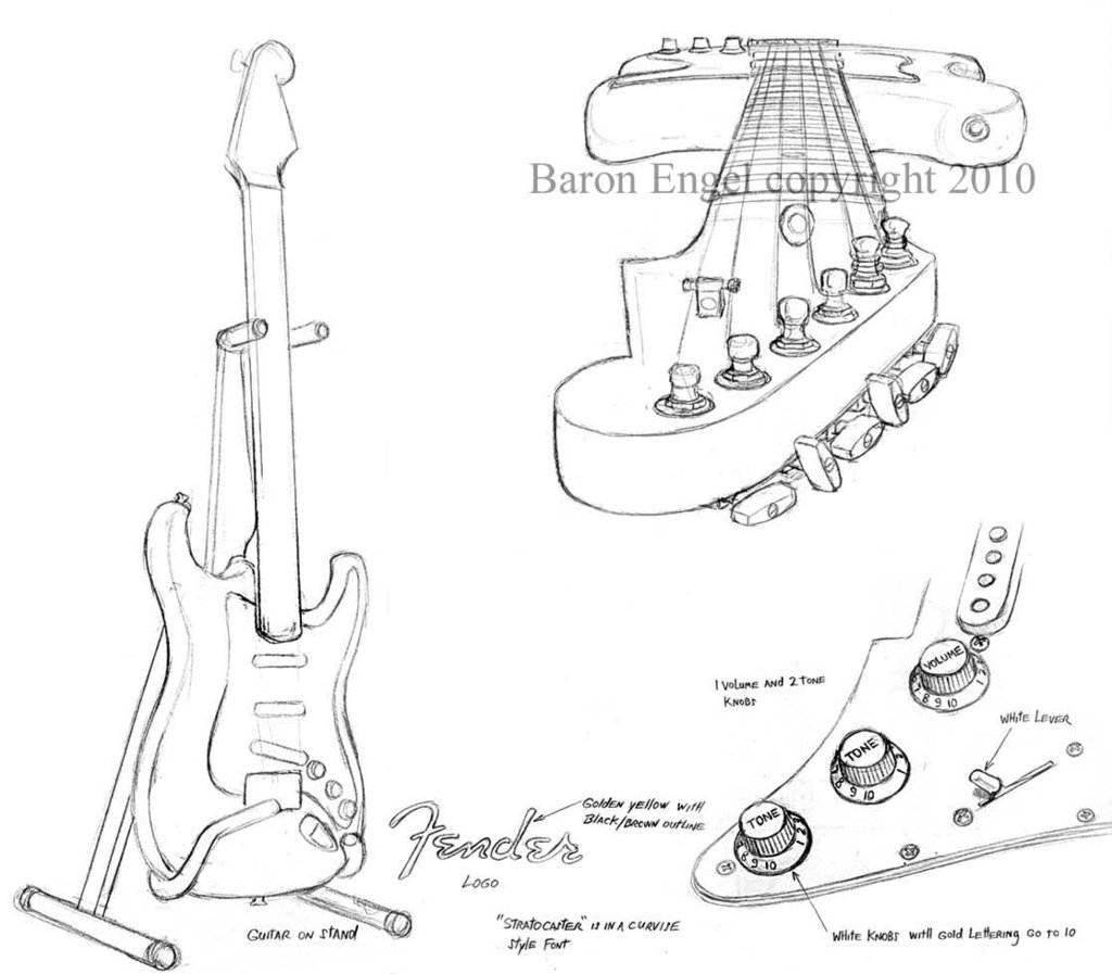 The Best Free Fender Drawing Images Download From 131