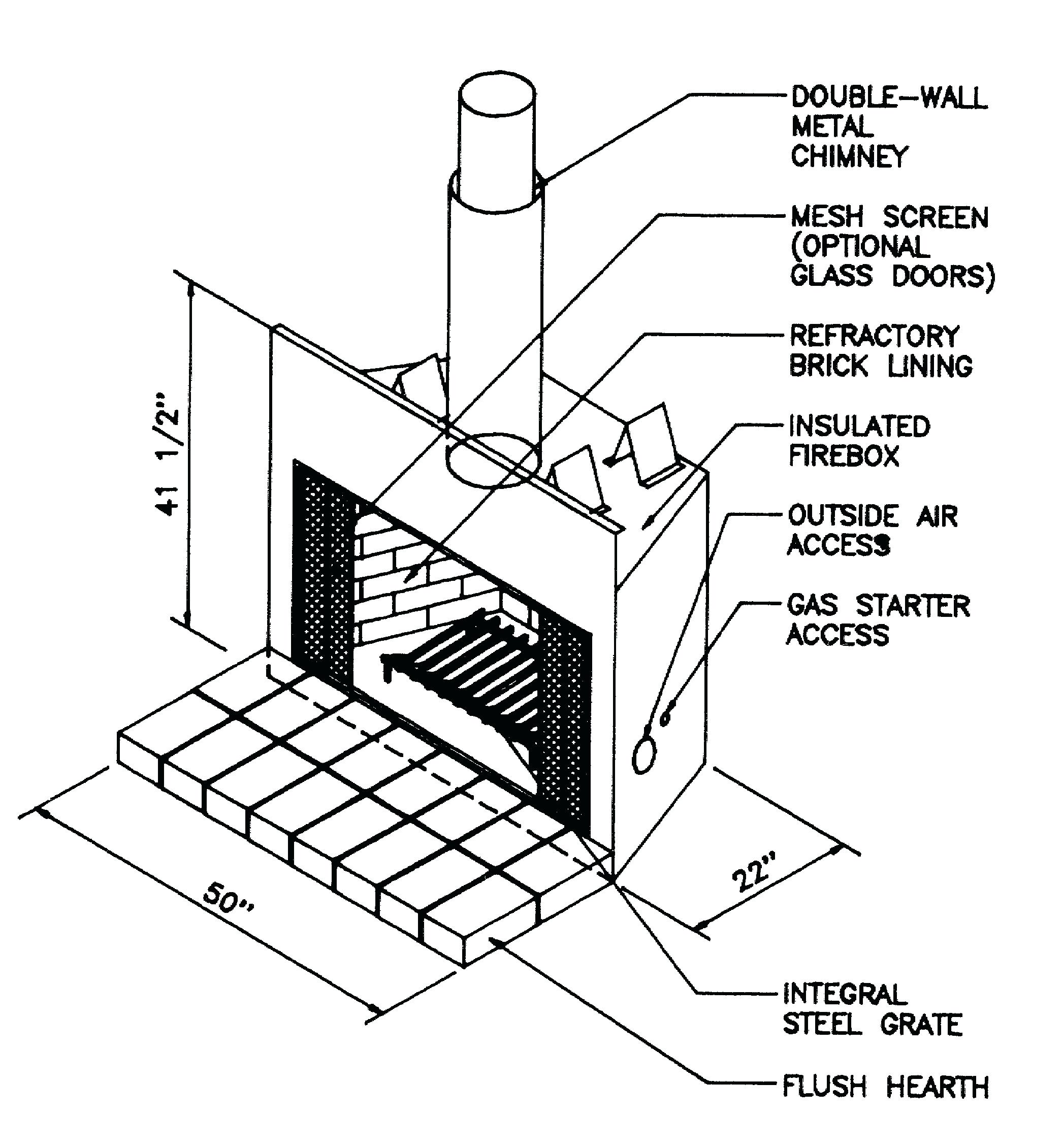 Fireplace Drawing At Getdrawings