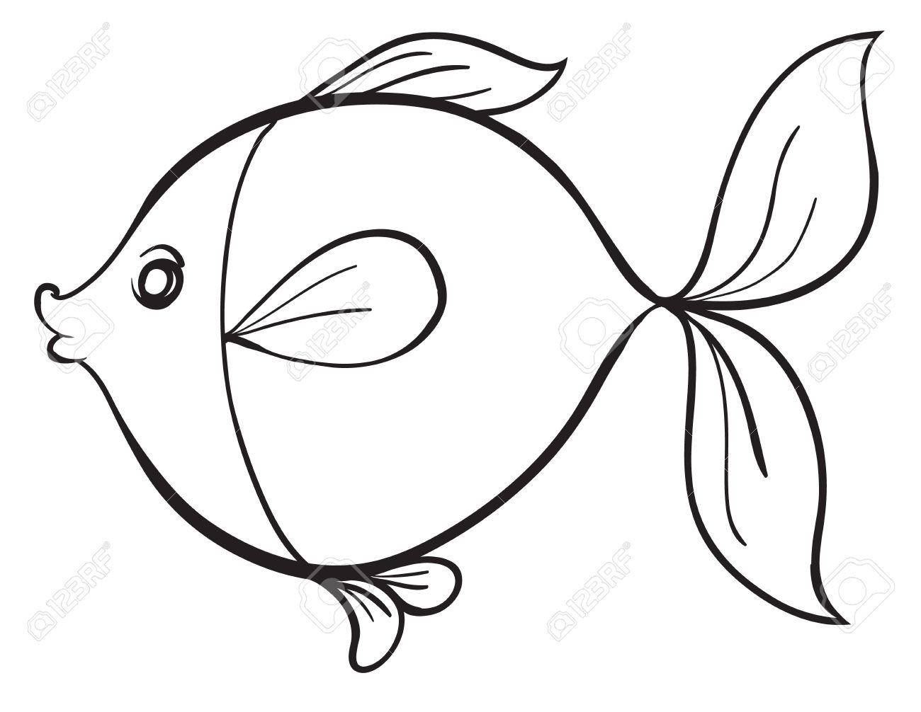 Fish Line Drawing At Getdrawings