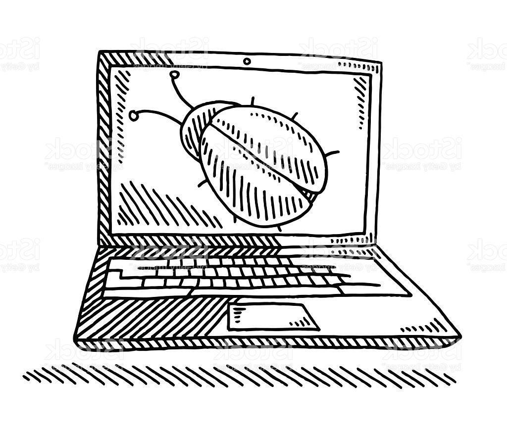 Flat Screen Tv Drawing At Getdrawings