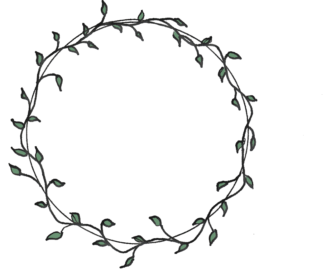 Coloring Picture Holly Wreath