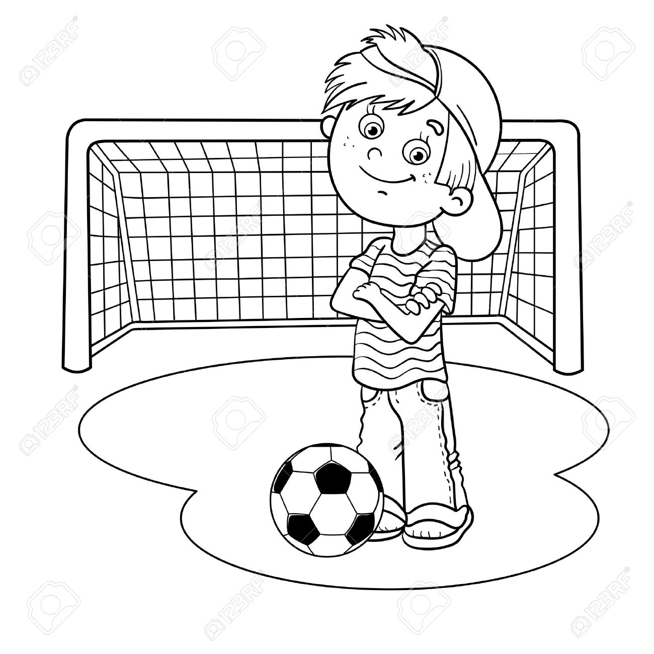 Football Outline Drawing At Getdrawings