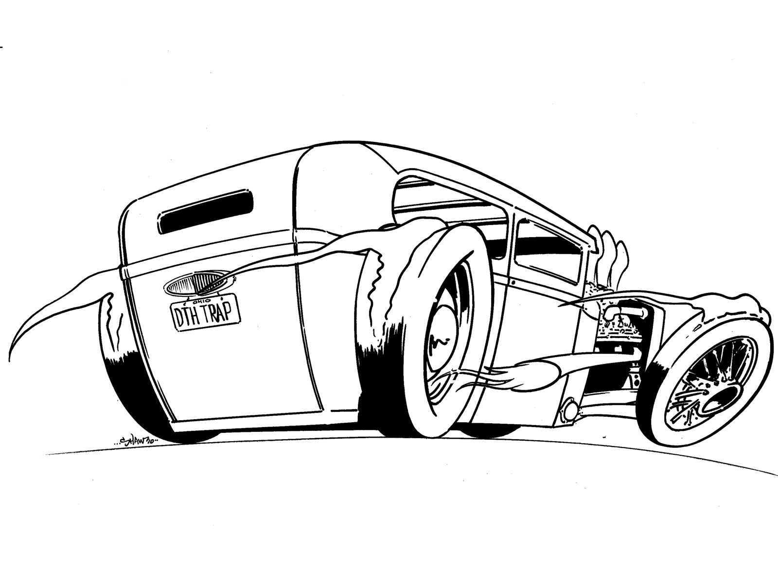 Ford Model T Drawing At Getdrawings