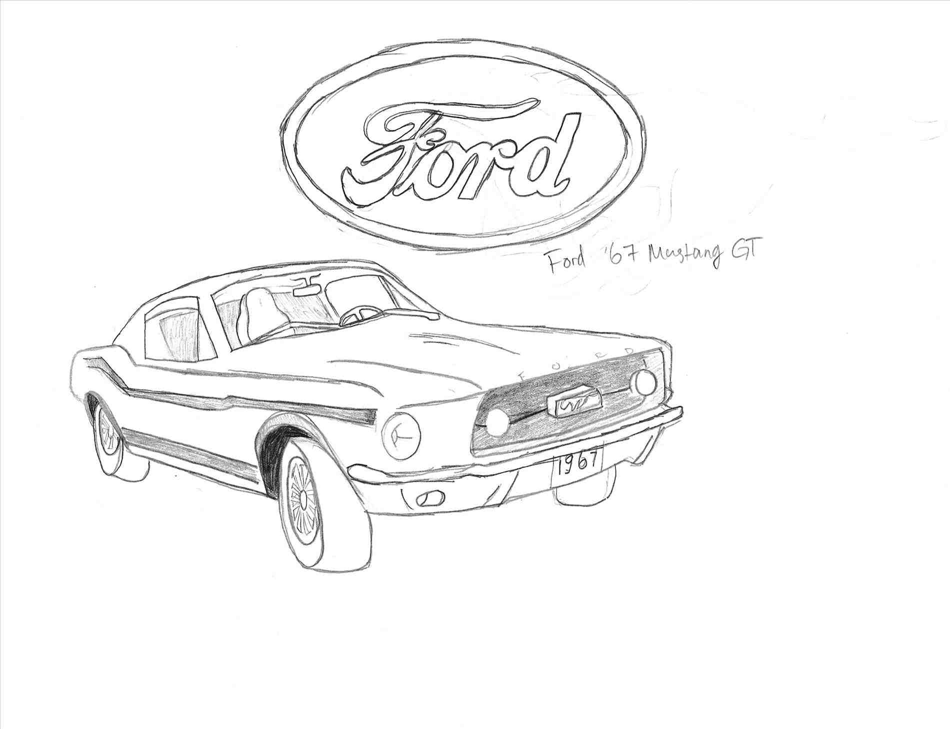 Ford Mustang Gt Drawing At Getdrawings