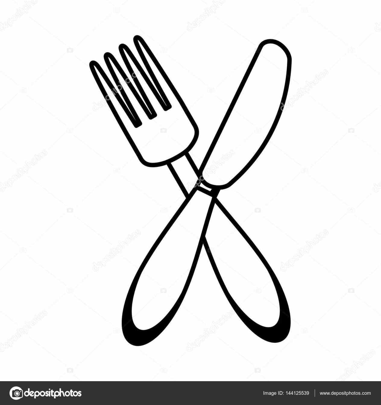 Fork And Spoon Drawing At Getdrawings