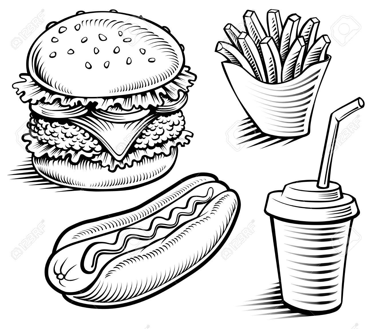Free Food Drawing At Getdrawings