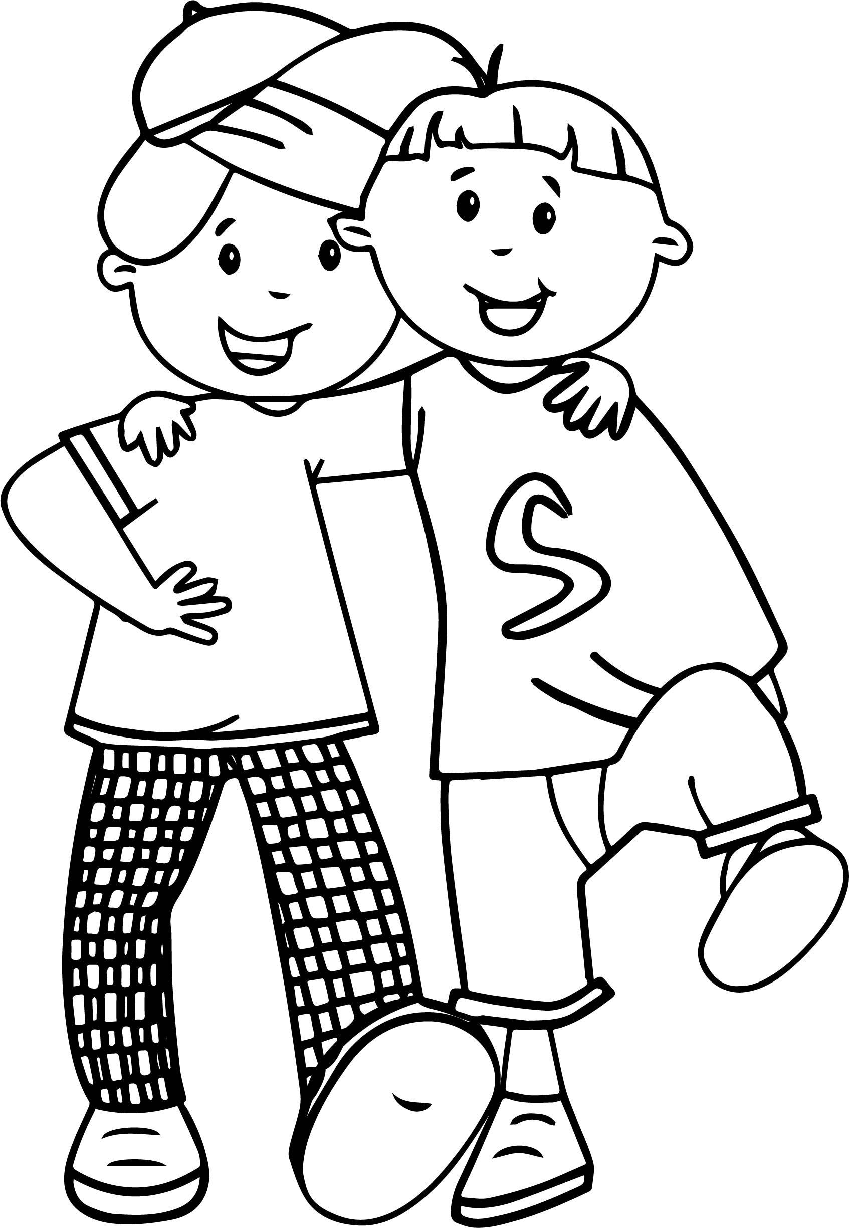 Friends Cartoon Drawing At Getdrawings