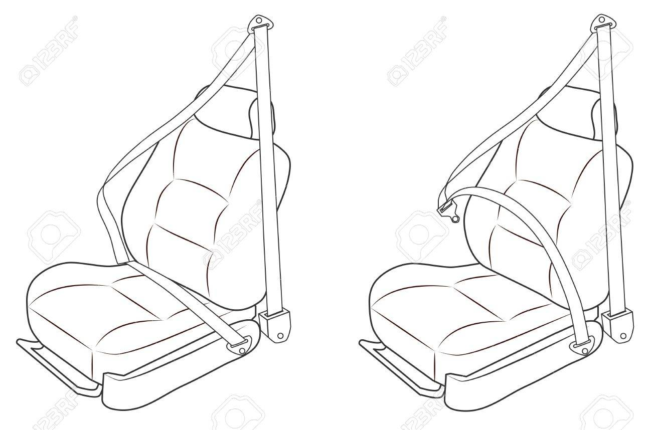 1300x858 front passenger seat of the car with seat belts royalty free