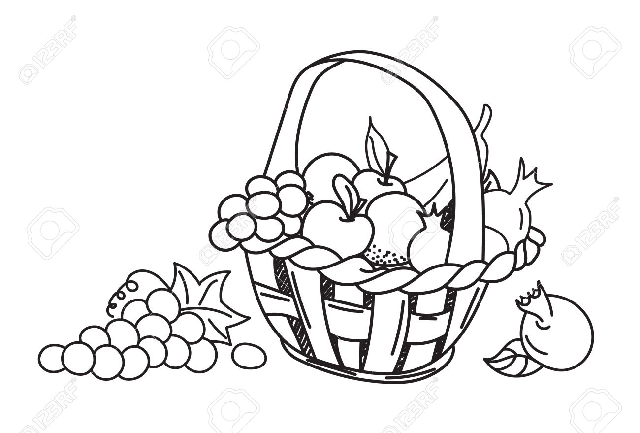 Fruit Basket Pictures For Drawing At Getdrawings