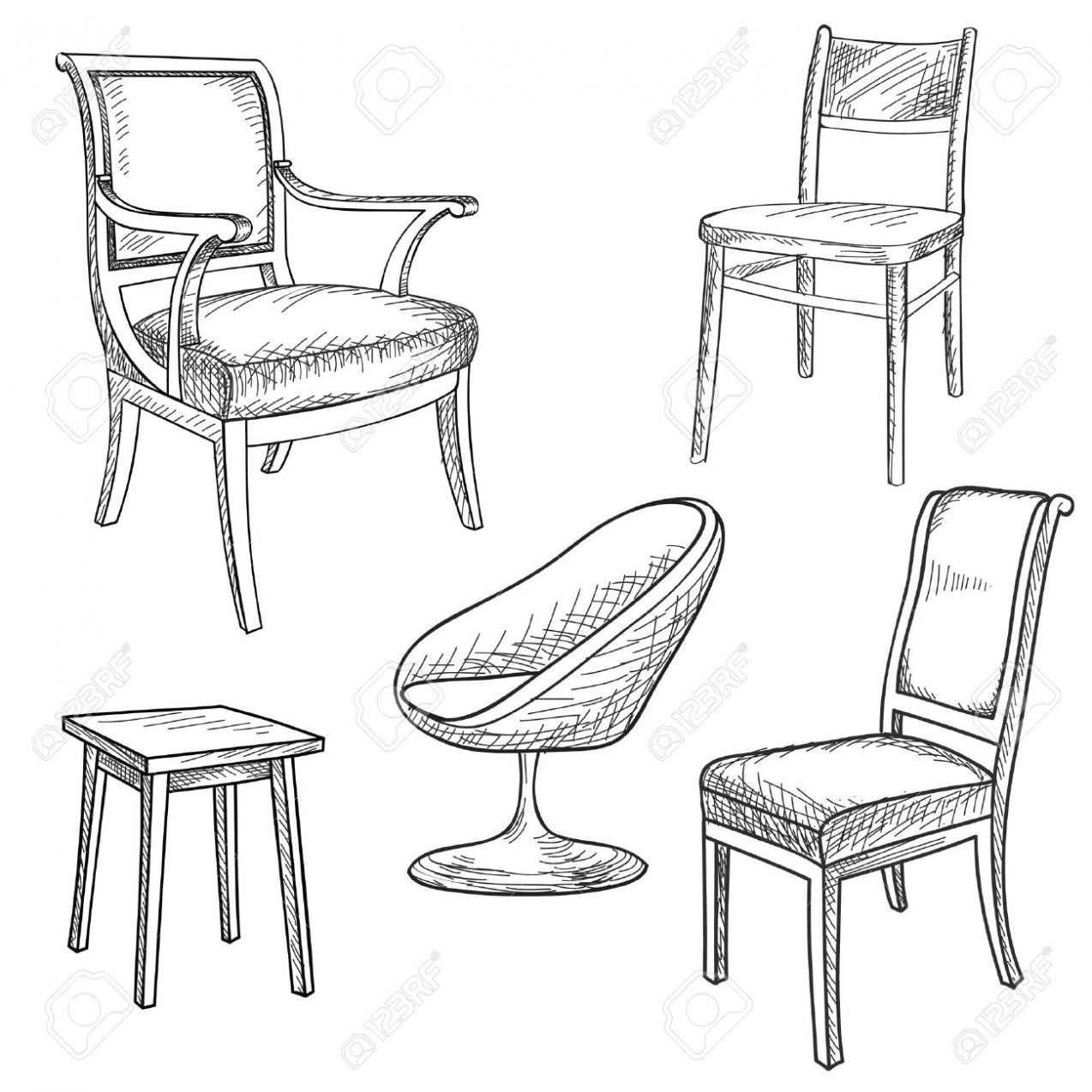 Furniture Drawing At Getdrawings
