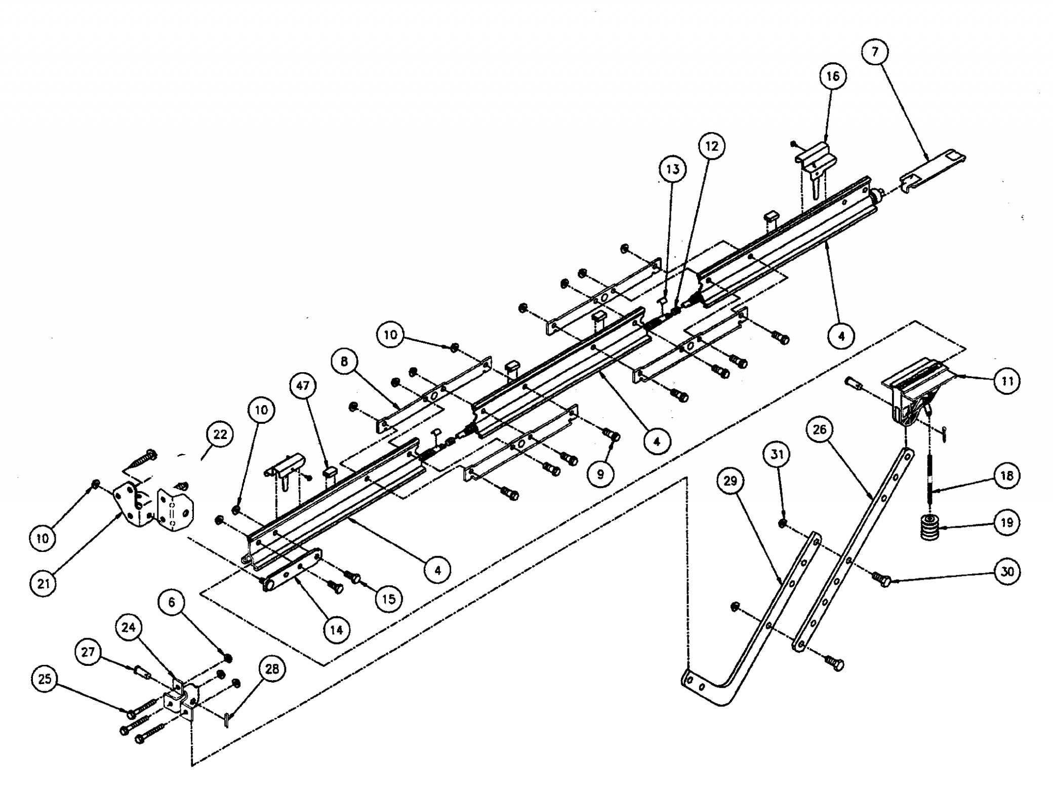 Garage Door Track Assembly Parts