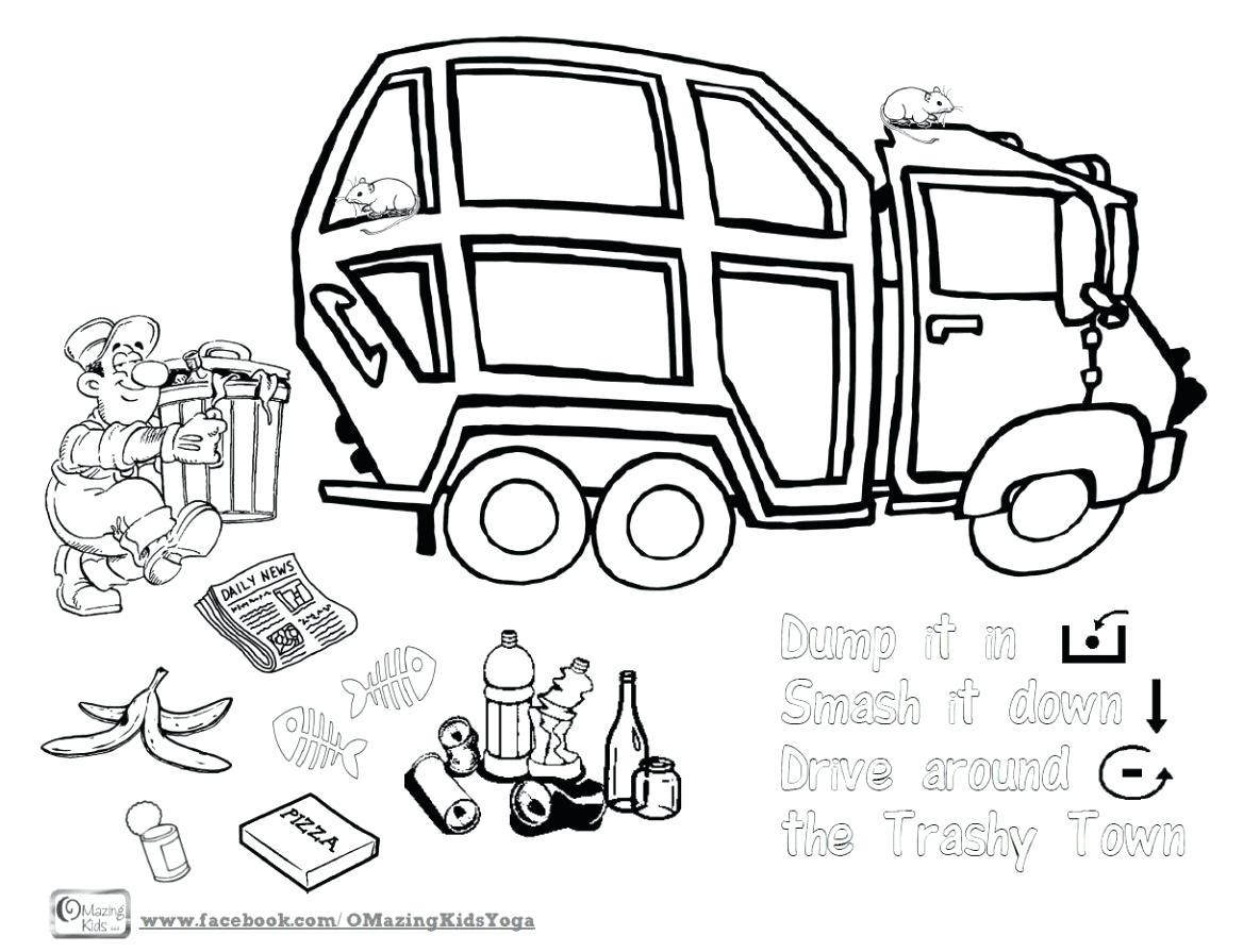 Garbage Truck Drawing At Getdrawings