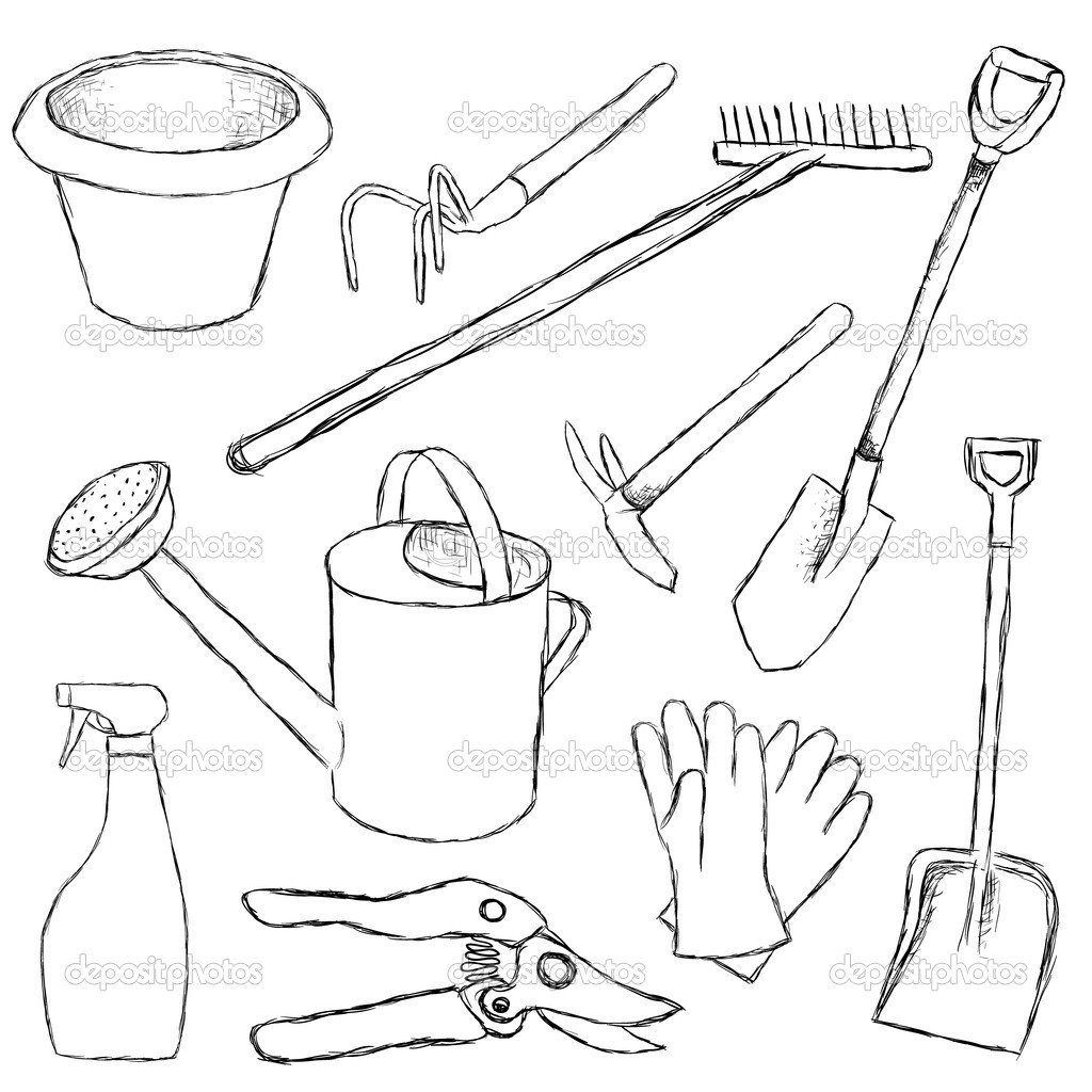 Gardening Tools Drawing At Getdrawings