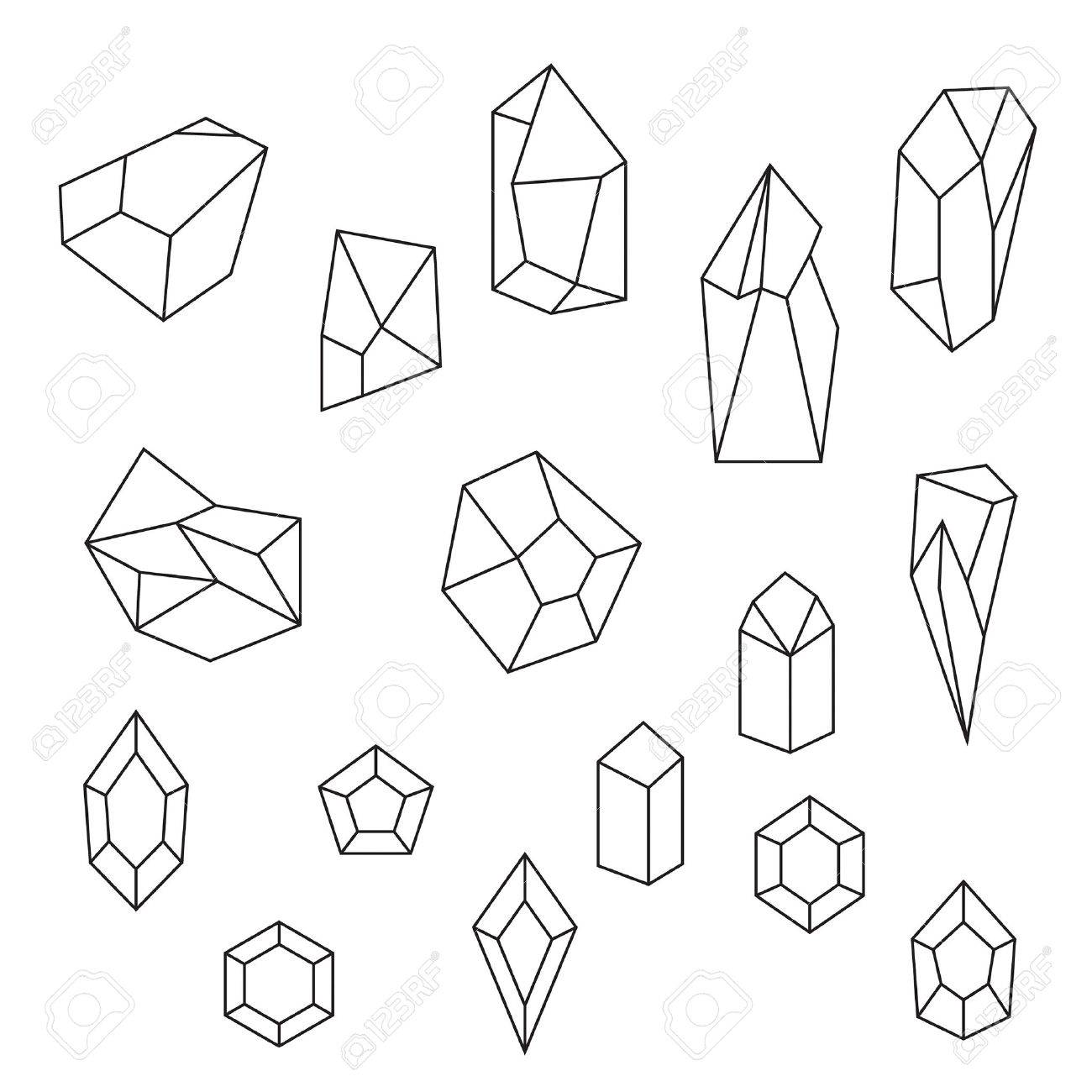 The Best Free Gemstone Drawing Images Download From 74