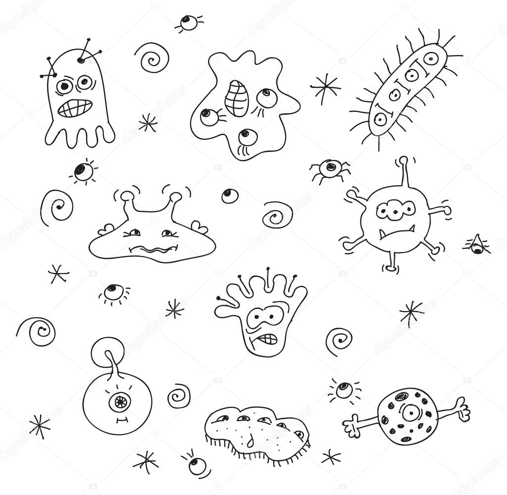 The Best Free Bacteria Drawing Images Download From 75