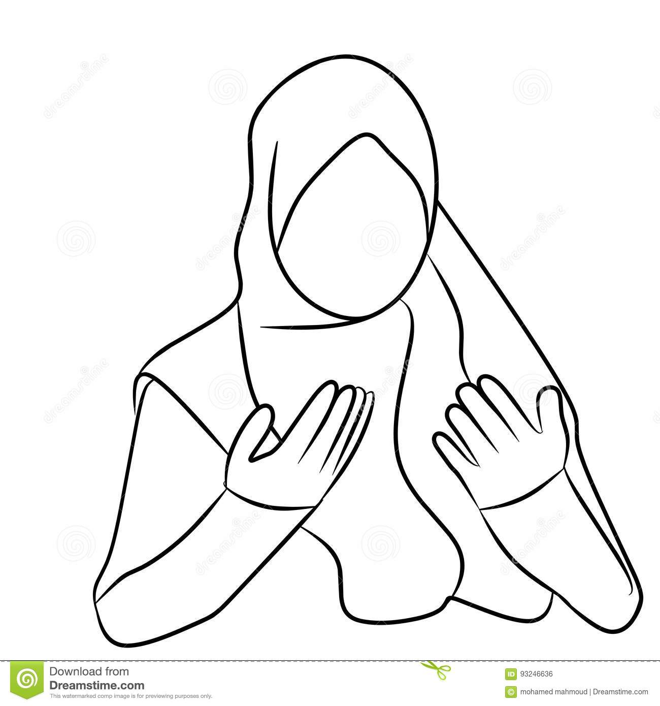 Girl Praying Drawing At Getdrawings