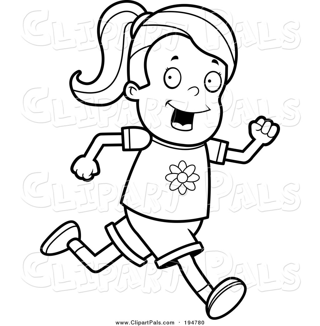 Girl Running Drawing At Getdrawings