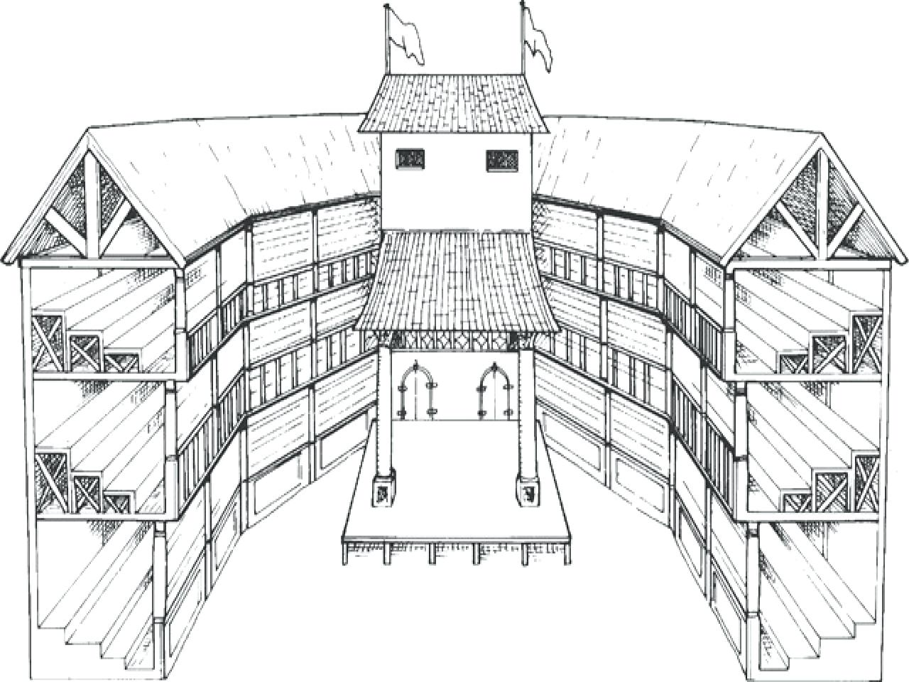 Globe Theater Drawing At Getdrawings